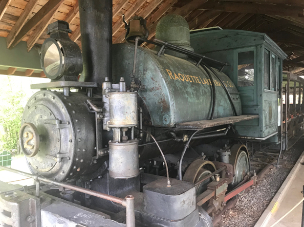 Raquette River Railroad Co. train exhibit at The Adirondack Experience (Photo by the author used with permission)