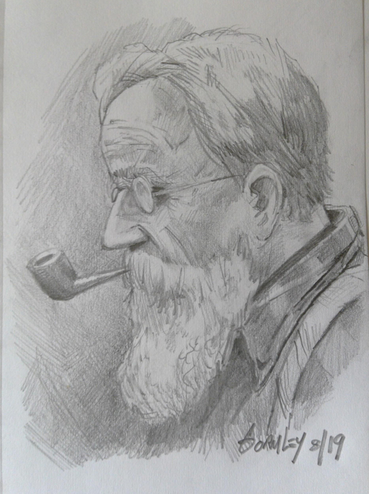 Portrait of Rondeau (drawing by author)