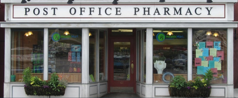Exterior storefront image of Saranac Lake Post Office Pharmacy