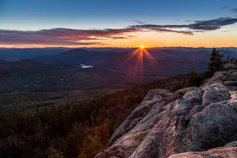 Sunset at Crane Mountain in the Adirondacks