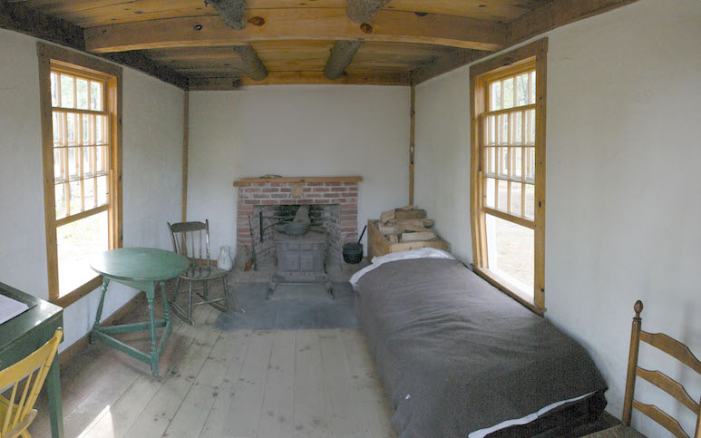 Replica of Thoreau's cabin (Wikimedia Commons)