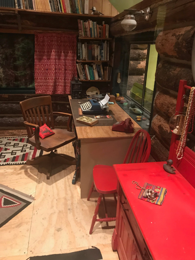 Interior of Anne LaBastille's cabin (Photo by author and used with permission)