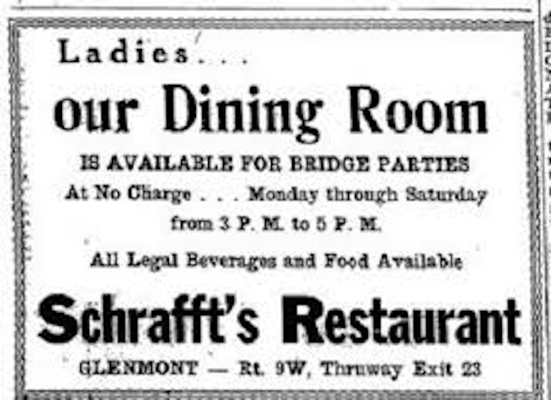 Old print ad image for Schrafft's Restaurant
