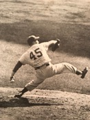 Johnny Podres on the mound (1955) (Podres Collection)