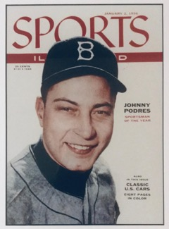 Sports Illustrated cover from 1956 (Podres Collection)